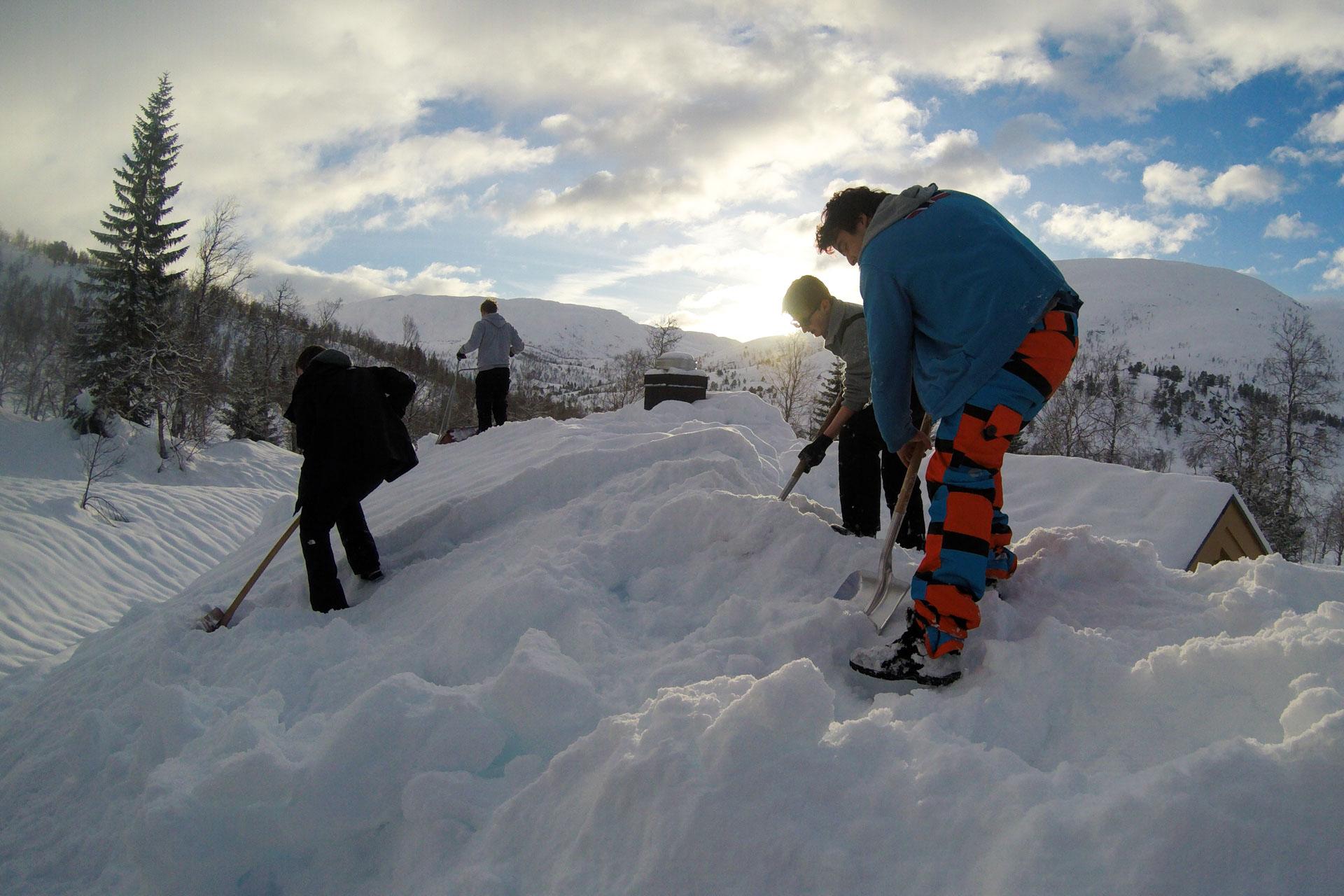 Snømåking i Grømdalen