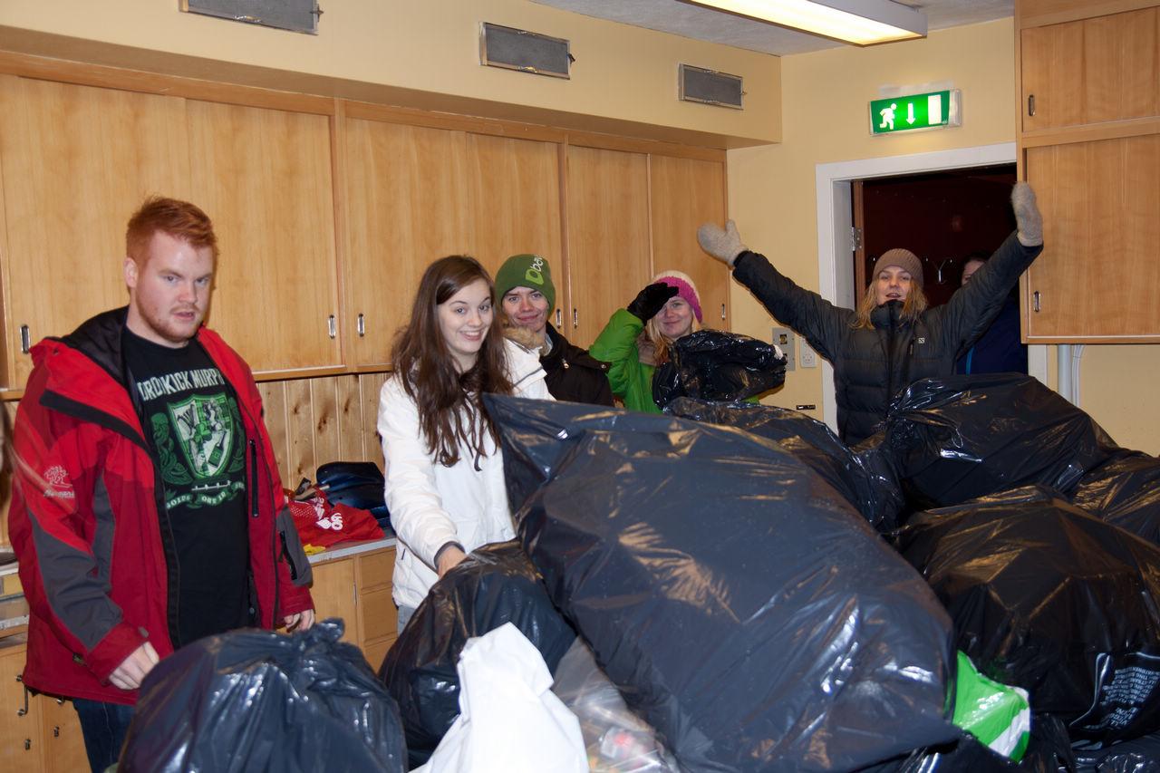 Innsamling av flasker for Håpskolen